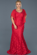 Robe Grande Taille Longue Rouge ABU474