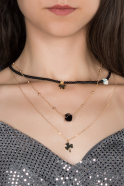 Collier Noir BJ261