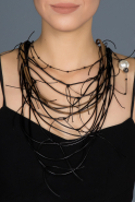 Collier Noir BJ003