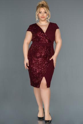 Robe De Soiree Grande Taille Courte Rouge Bordeaux Abk653 Abiyefon Com