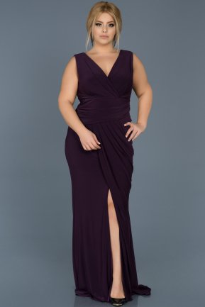 Robe Grande Taille Longue Violet ABU532