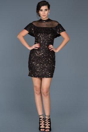 Noir Manche courte La robe du soir   Abiyefon.com 4b4918937a62