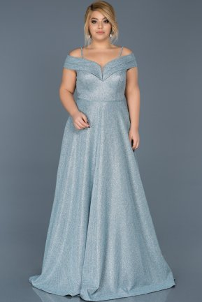 Robe Grande Taille Longue Turquoise ABU590