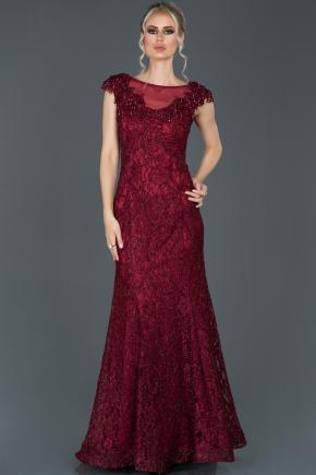 Robe De Fiancaille Longue Rouge Bordeaux Abu943 Abiyefon Com